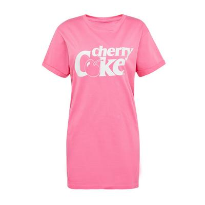 Camisa noite Cherry Coke cor-de-rosa