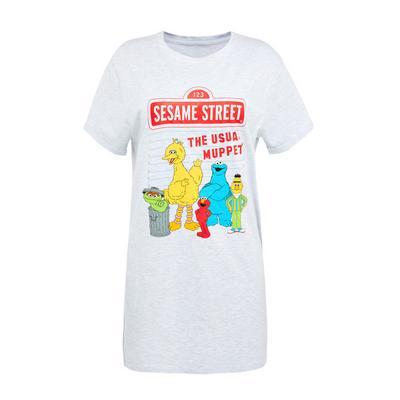 Light Grey Sesame Street Nightshirt