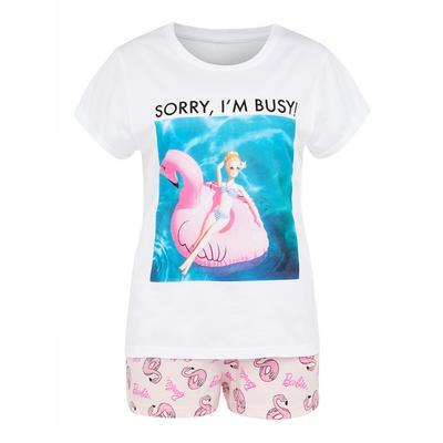 White Barbie Short Pyjamas Set