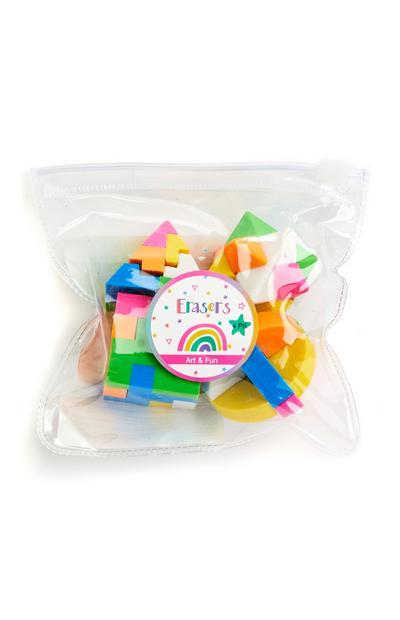 Mehrfarbige Puzzleradiergummis, 4er-Pack