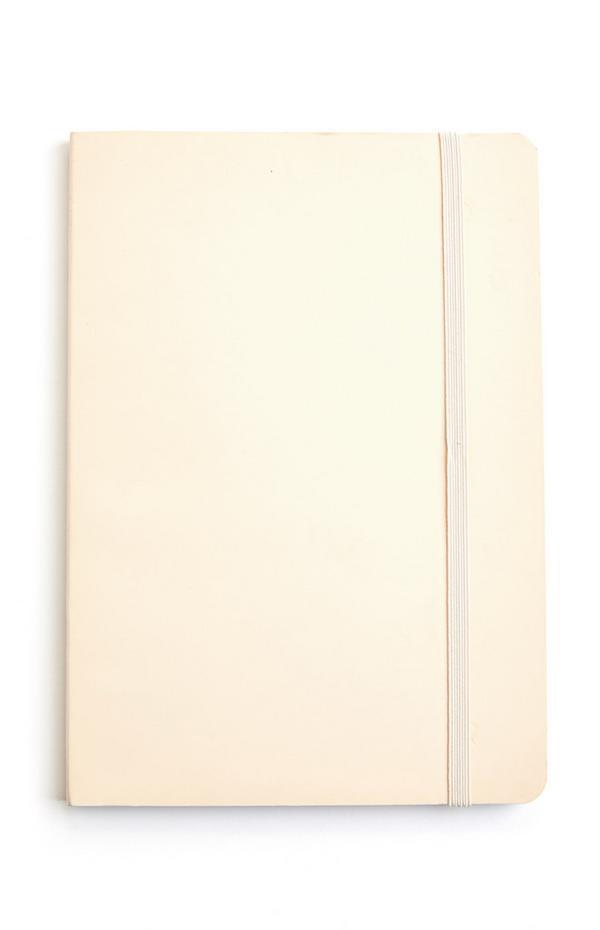 Elfenbeinfarbenes A5-Notizbuch