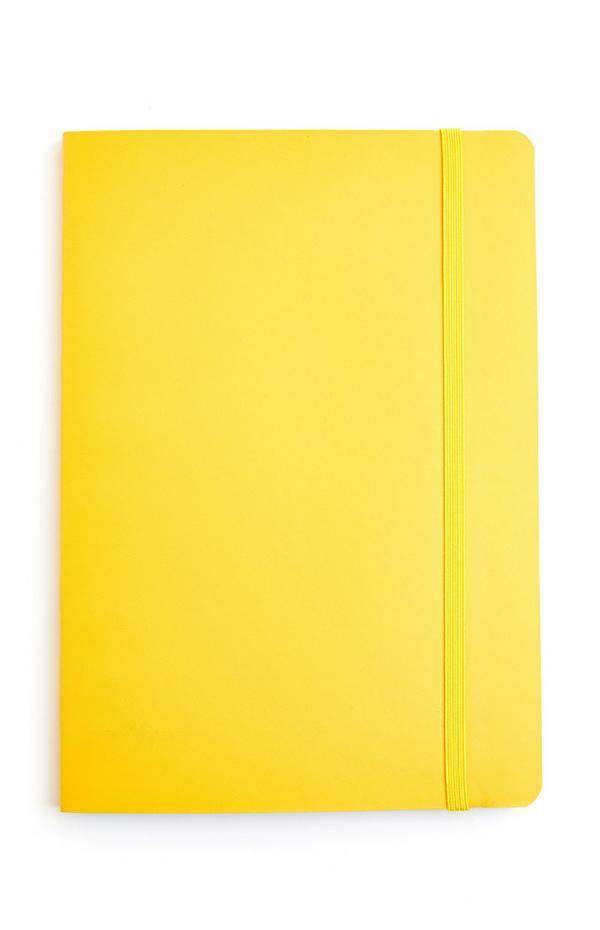 Bloco notas A5 amarelo