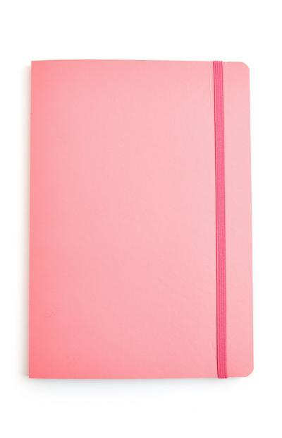 Bloco notas A5 cor-de-rosa