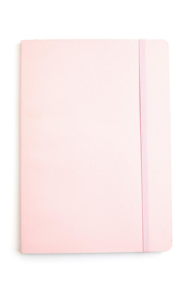 Poederroze A5-notitieboekje