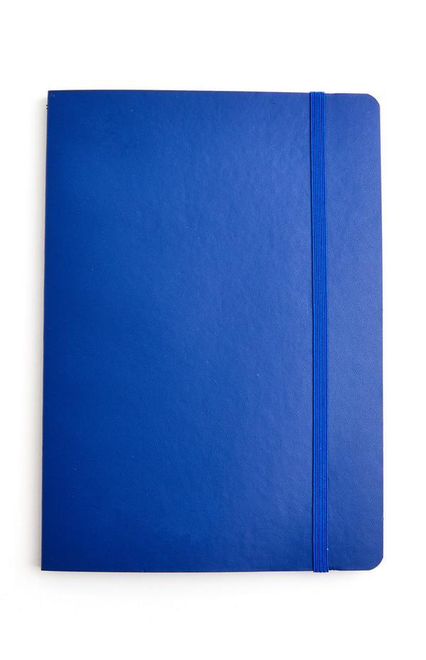 Blauw A5-notitieboekje