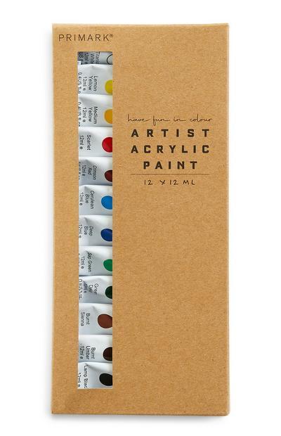 Artist Acrylic Paints Set 12 Pack