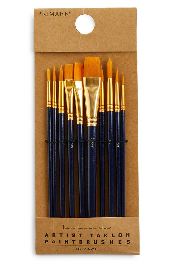 10 pennelli in taklon per dipingere per artisti