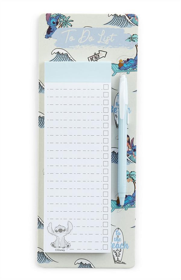 Kit stylo et To Do List Lilo et Stitch