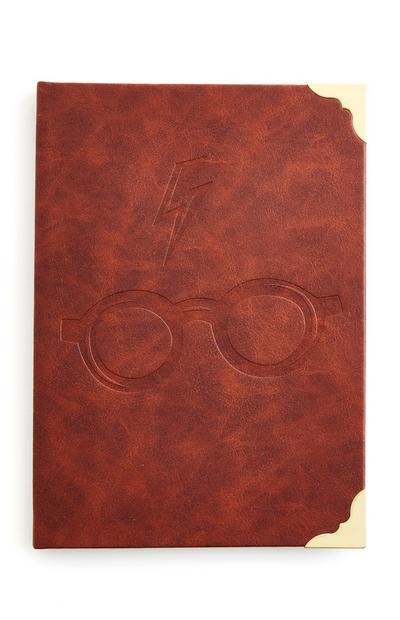 Bloco notas A5 imitação pele Harry Potter
