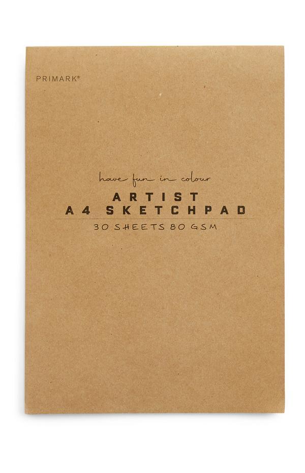 Umetniški blok A4 iz papirja za skiciranje