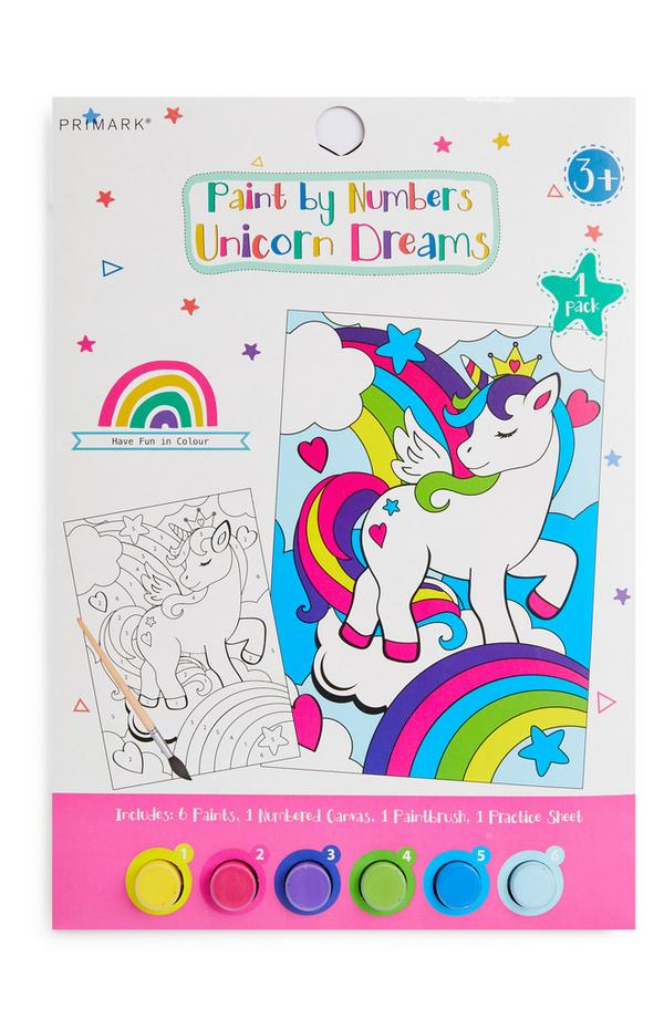 Paint By Numbers Unicorn Dreams