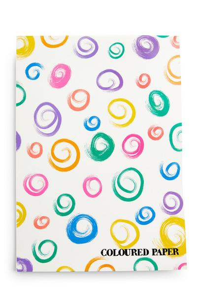 Bloco papel colorido A4 multicolor