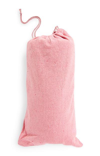 Roze hangmat voor buiten met tasje