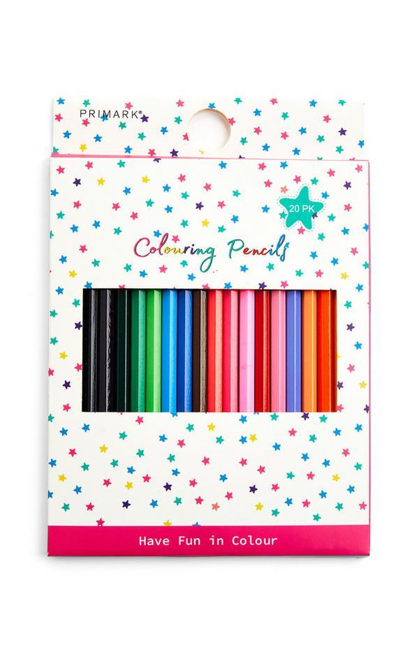 20 matite colorate