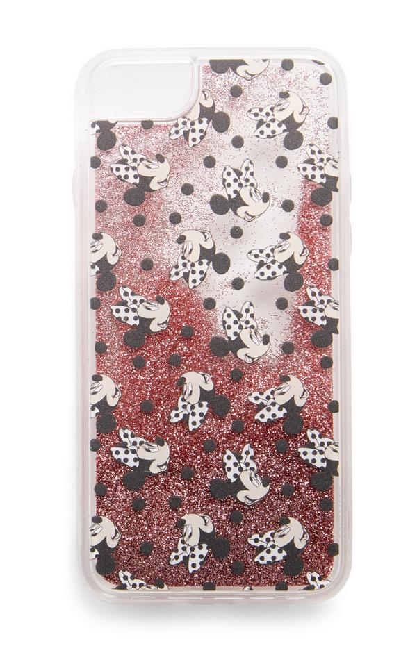 Schudbare telefoonhoes Disney Minnie Mouse met glitter