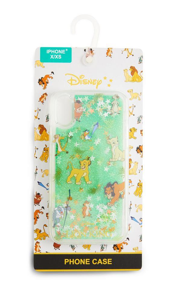 Capa telemóvel Disney O Rei Leão brilhos verde