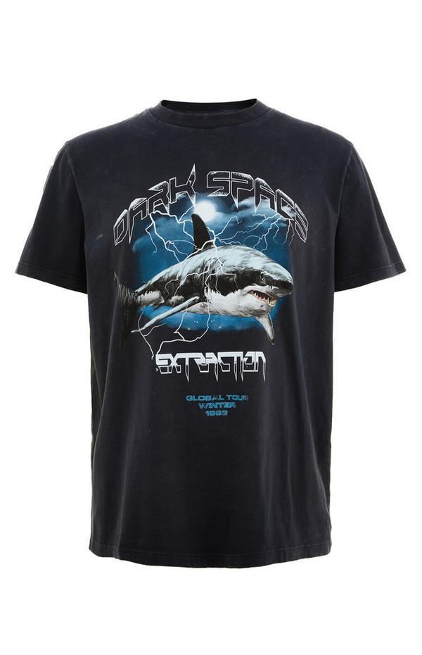 Zwart T-shirt Dark Space
