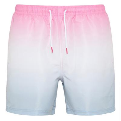 Pink And Blue Dip Dye Ombre Shorts