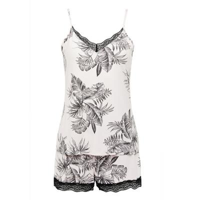 Monochrome Jungle Print Short Pyjamas Set