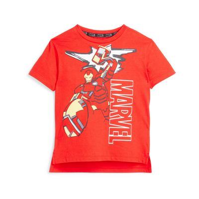 Rood T-shirt Marvel Iron Man voor jongere jongens