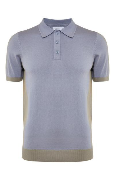 Polo gris à empiècements Premium