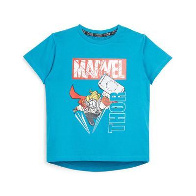 Blauw T-shirt met Marvel Thor-print voor jongere jongens