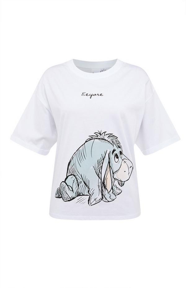T-shirt blanc Winnie l'ourson à imprimé Bourriquet
