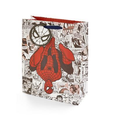 Comic Print Marvel Spiderman Gift Bag