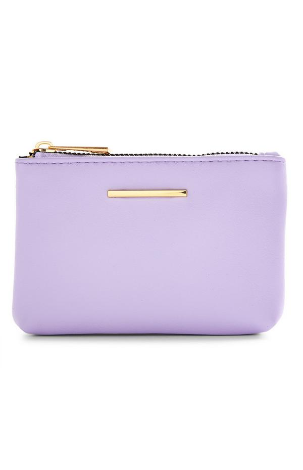 Lilac And Goldtone Zip Smooth Coinpurse