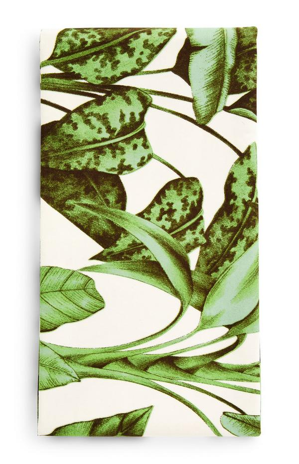 Nappe cirée à motif feuilles