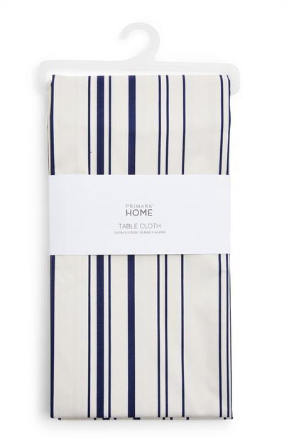 Blue Striped Wax Table Cloth