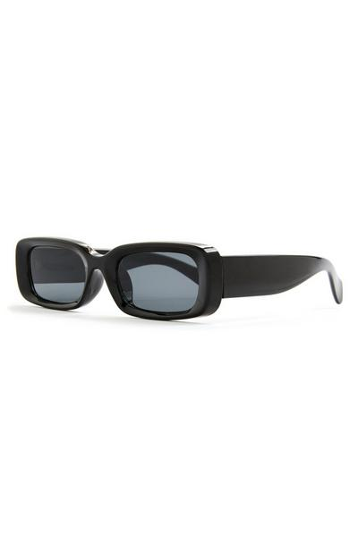 Black Chunky Arm Rectangle Sunglasses