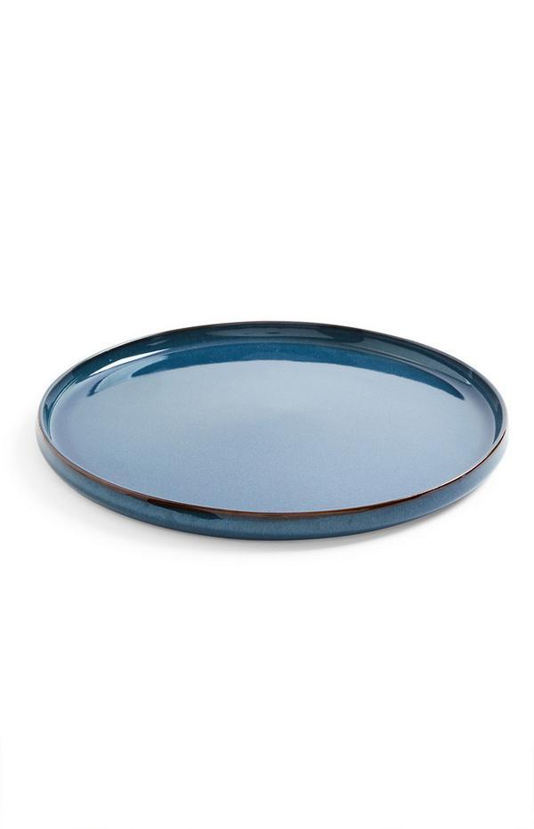 Large Blue Ceramic Plate