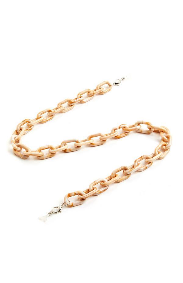 Goldtone Chunky Glasses Chain