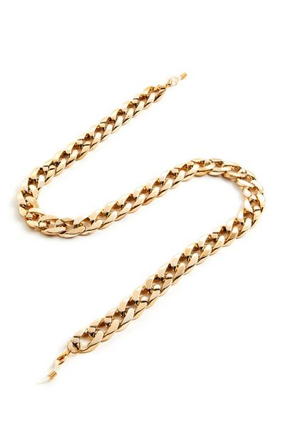 Goldtone Chunky Glasses Chain