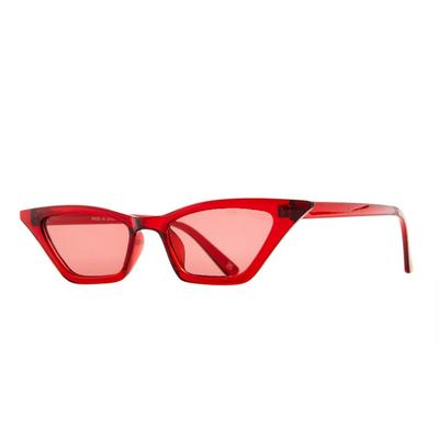 Lunettes de soleil œil-de-chat rouges fines