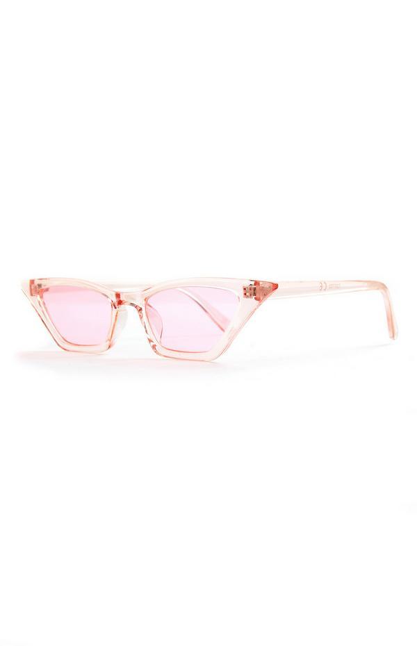 Hellrosa Cateye-Sonnenbrille