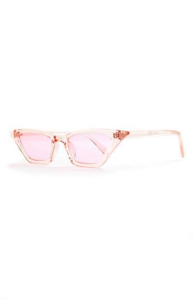 Lichtroze cat-eye zonnebril