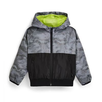 Anthrazitfarbene reflektierende Trainingsjacke (kleine Jungen)