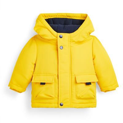 Baby Boy Yellow Hooded Jacket