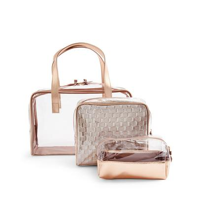 Rose Gold Metallic Extra Large 3-In-1 Vanity Cases