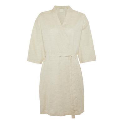 Cream Cotton Robe