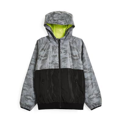 Older Boy Gray Reflective Track Jacket