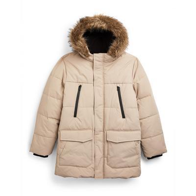 Older Boy Beige Puffer Jacket