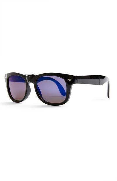 Zwarte opvouwbare Wayfarer-zonnebril, jongens