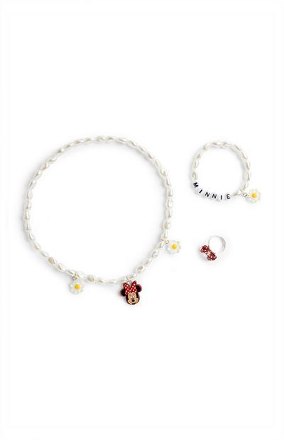 Pack de 3 piezas de bisutería de Minnie Mouse de Disney