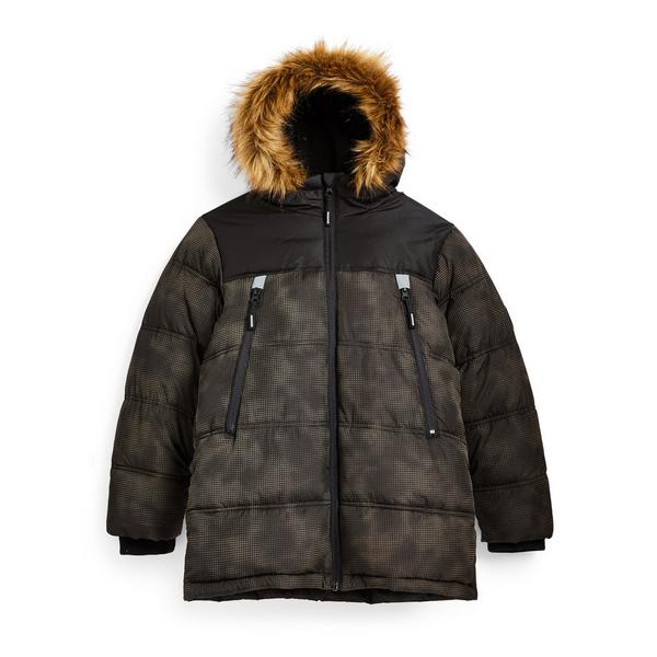 Older Boy Reflective Camouflage Puffer Jacket