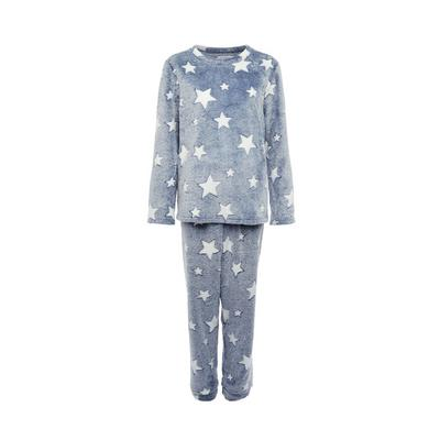 Blue Star Pattern Cosy Pyjamas Set
