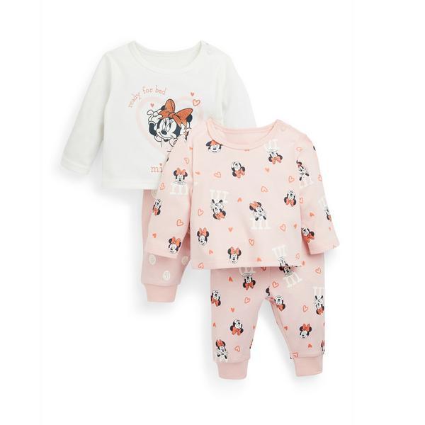 Pack 2 pijamas Disney Minnie Mouse menina bebé