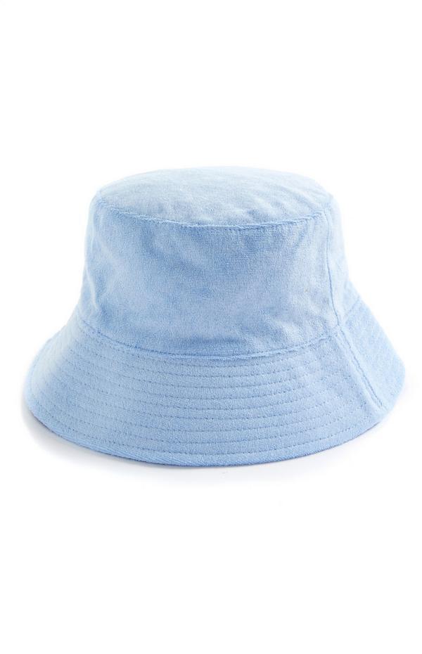 Bob bleu en tissu éponge